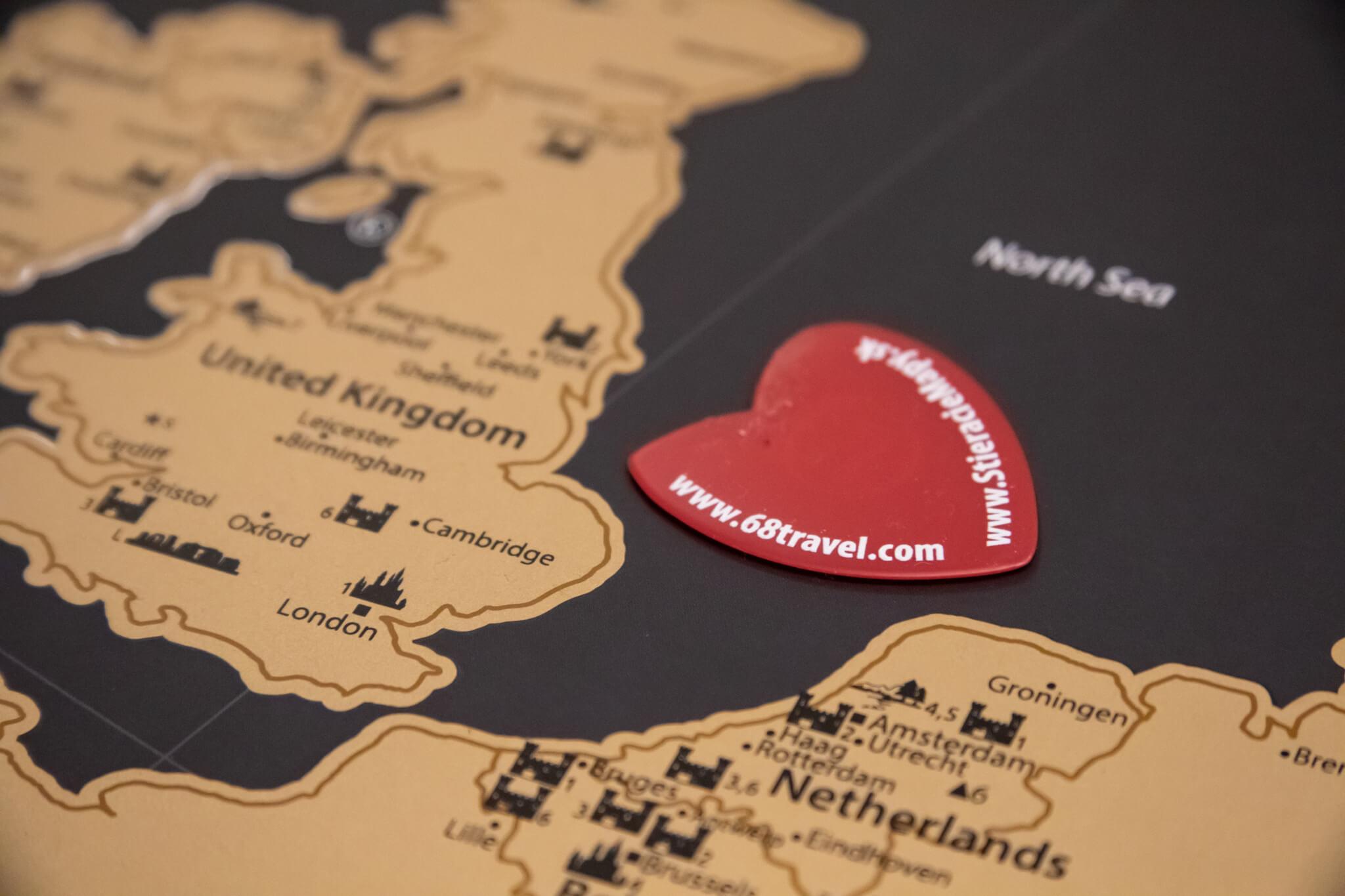 Rubbelkarte Europa - Detailansicht Rubbelwerkzeug