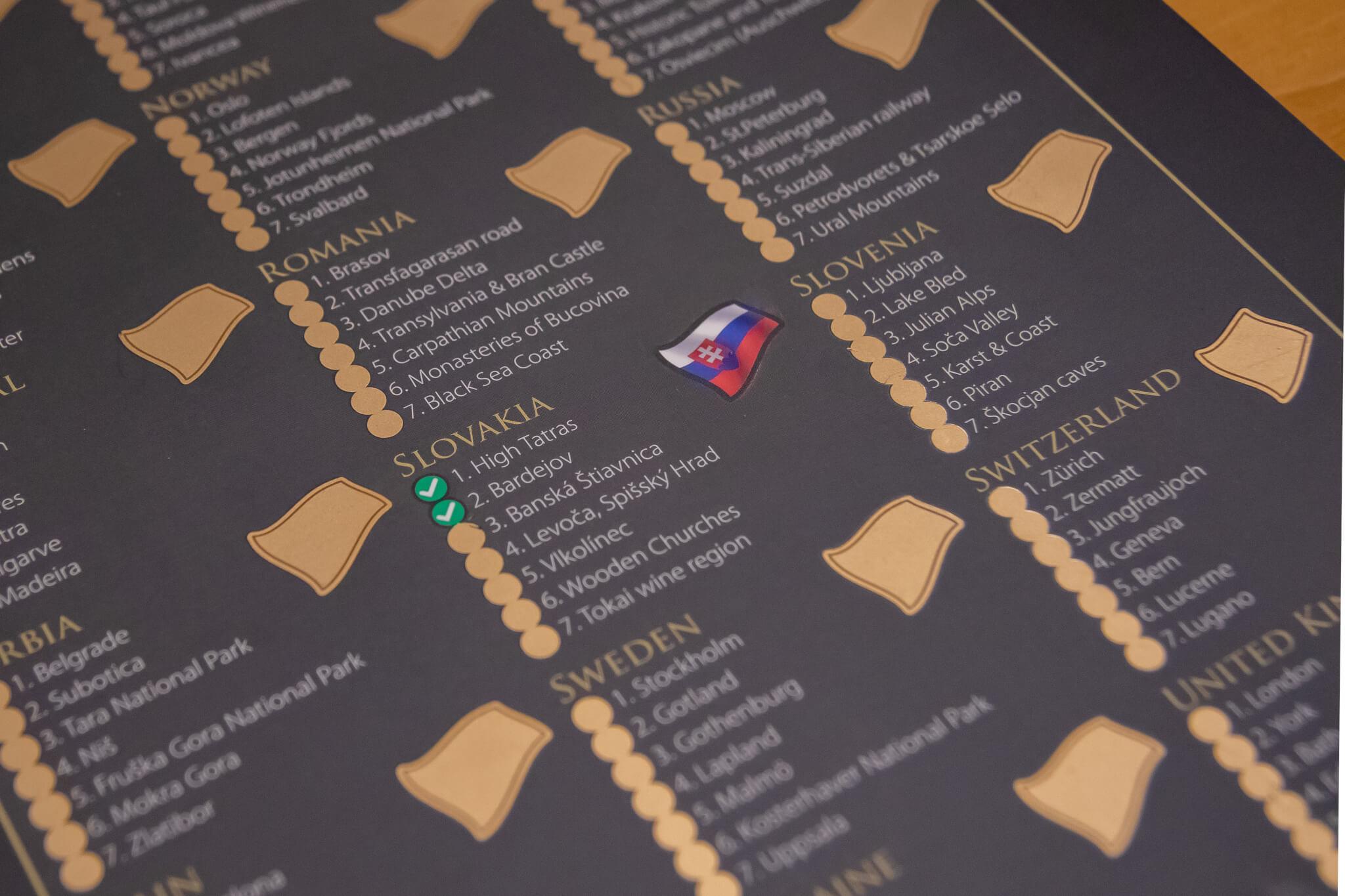 Rubbelkarte Europa - Detailansicht Länderflaggen