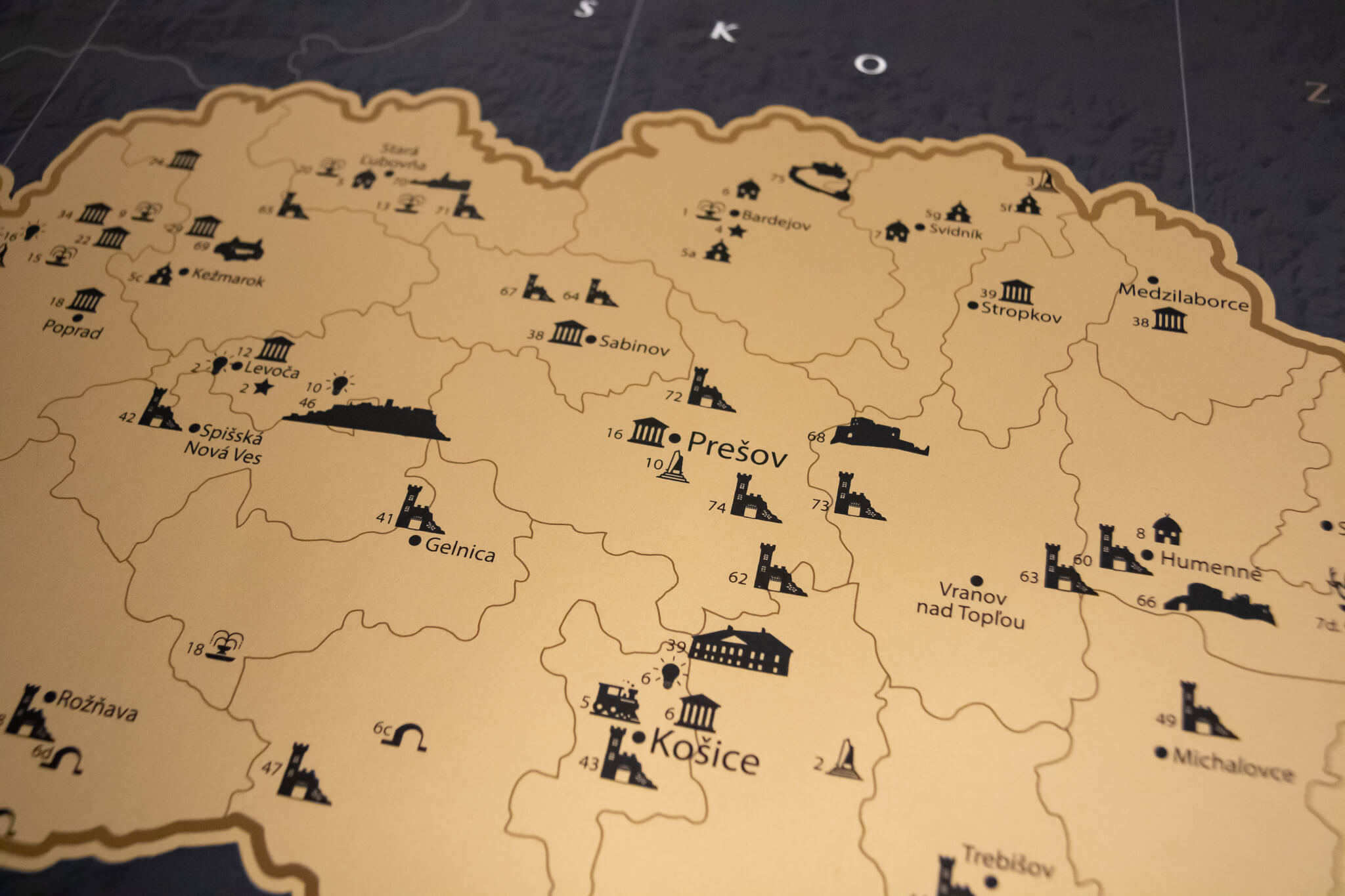 Rubbelkarte Slowakei - Gesamtansicht