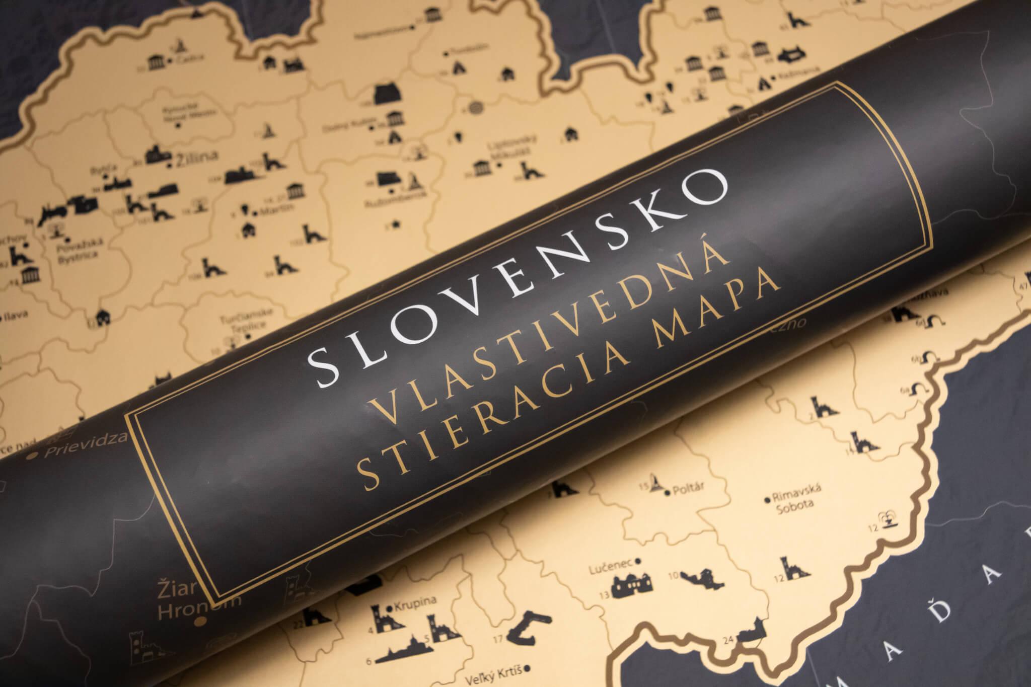 Rubbelkarte Slowakei - Geschenkrolle und Karte
