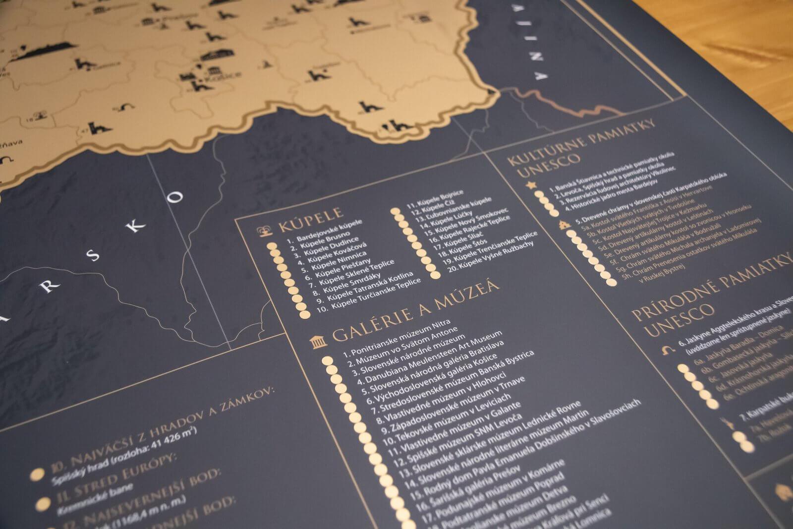 Rubbelkarte Slowakei - Detailansicht der Bereiche