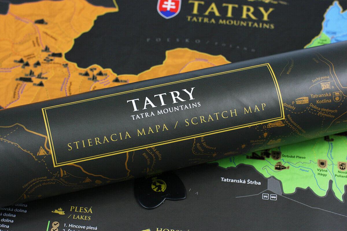 Kratzkarte der Tatra