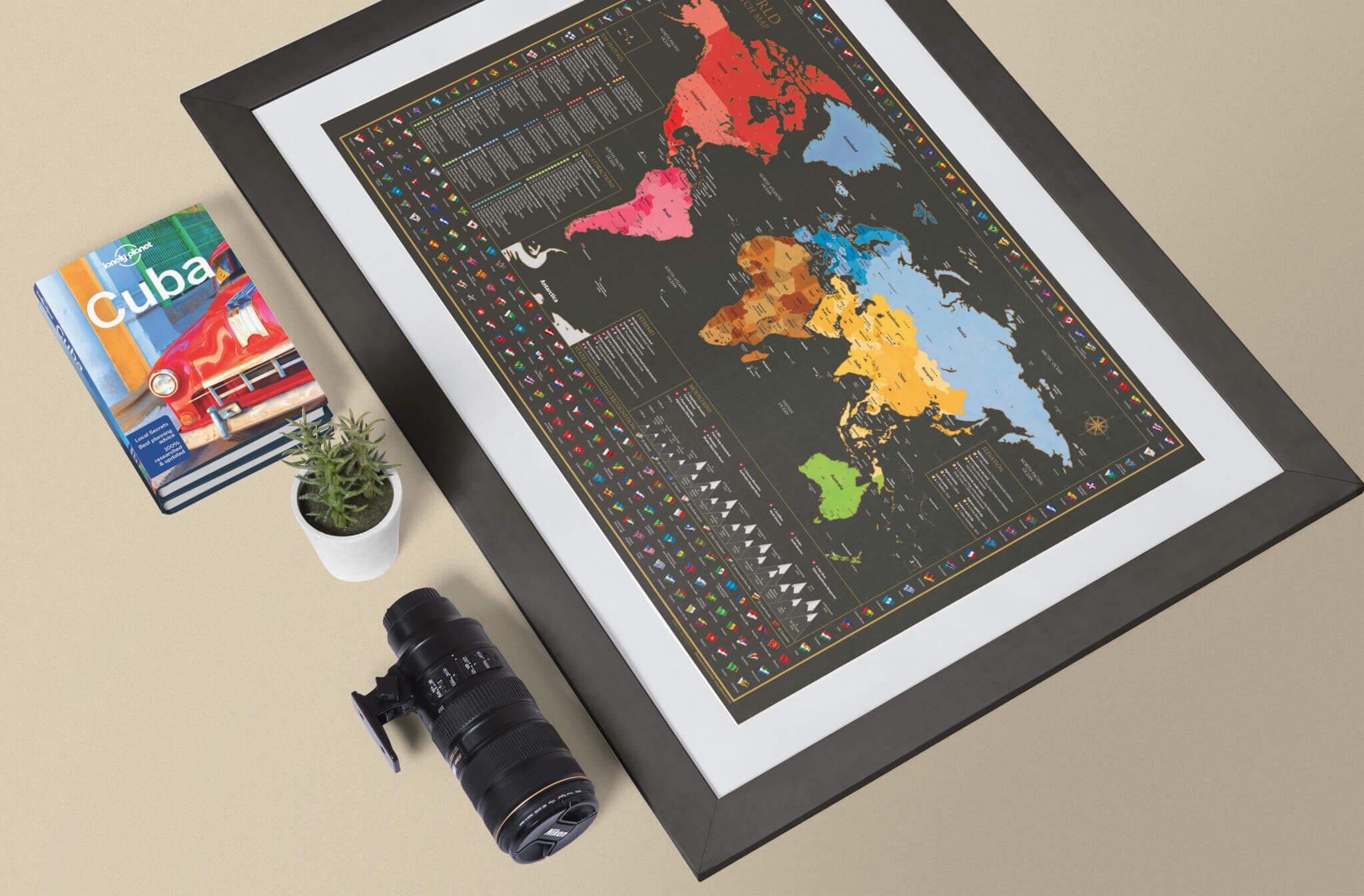 Welt Rubbelkarte