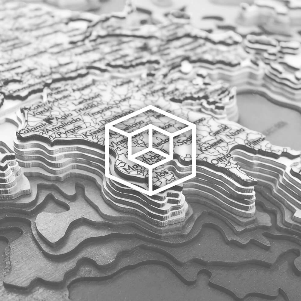 3D-Holzkarten