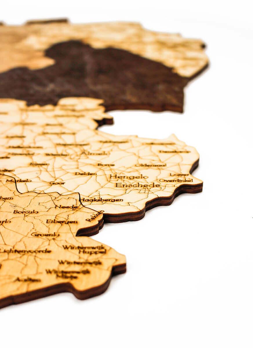geschichtete Holzkarte von Holland - Wanddekoration