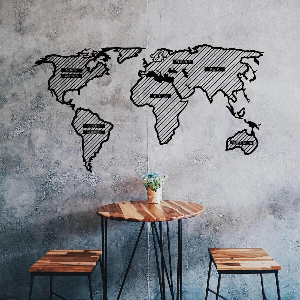 LINE Holzkarte der Welt - Abenteurer