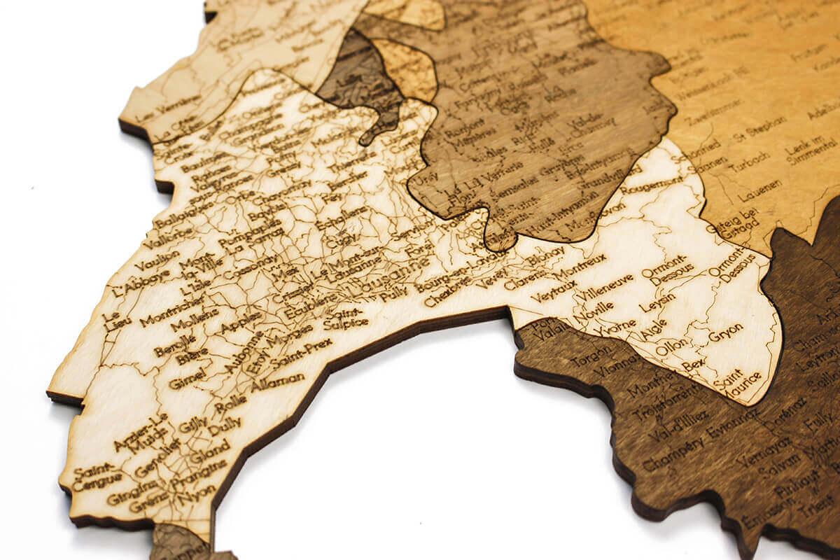Holzkarte der Schweiz