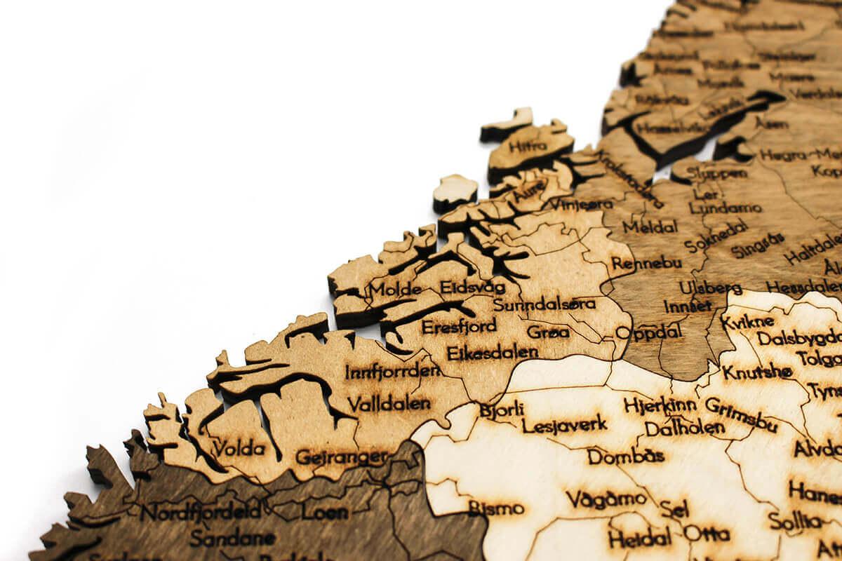 Holzkarte von Norwegen