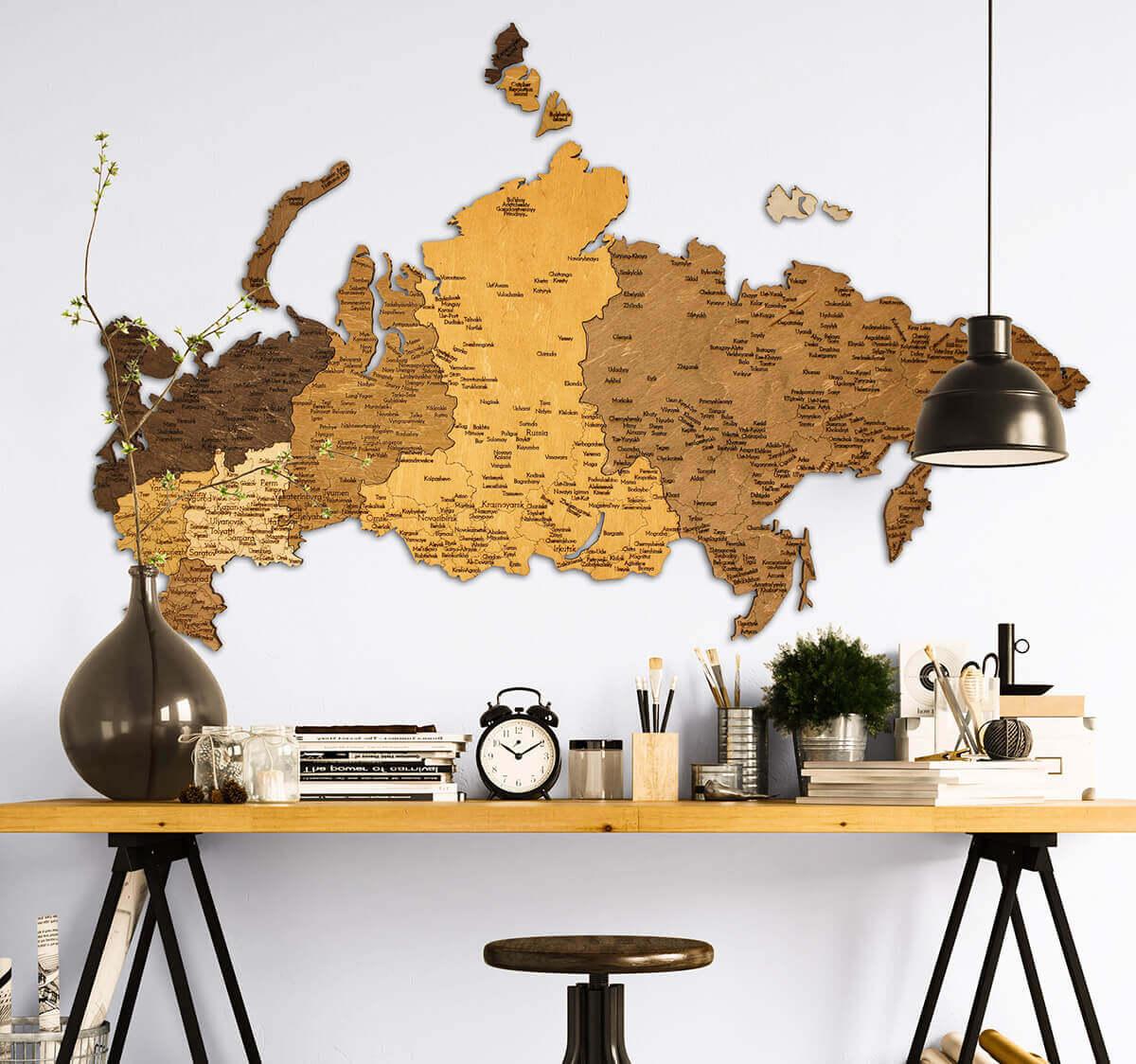 Holzkarte von Russland