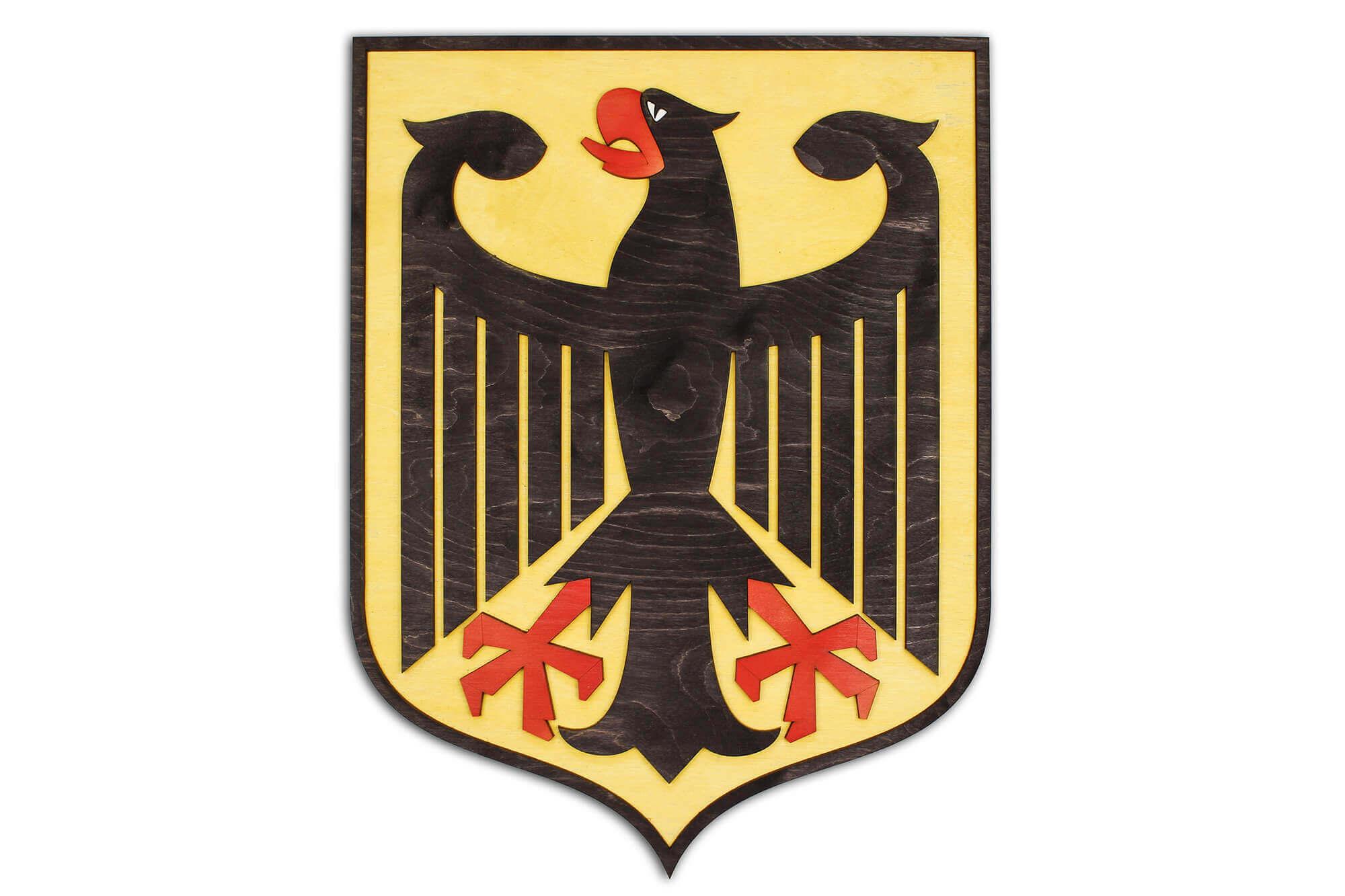 Holzwappen von Deutschland