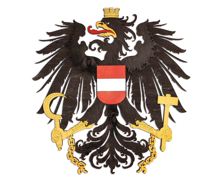 Holzwappen von Österreich