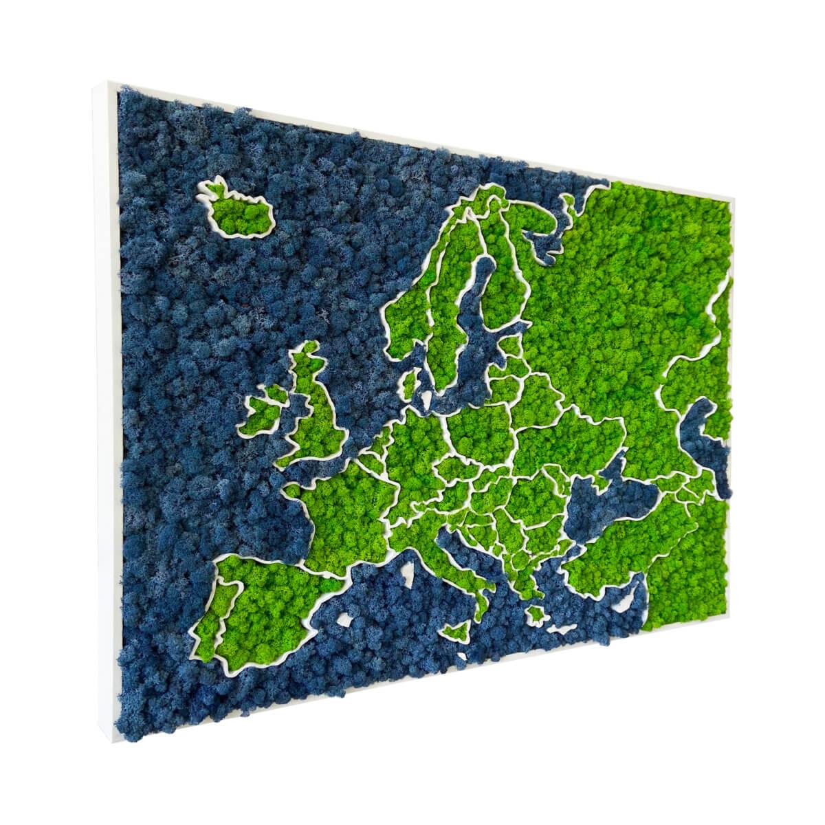 3D Europakarte aus Moos - organische Flechten