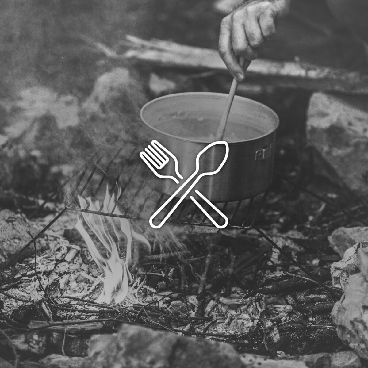 Campingutensilien, Besteck, Geschirr